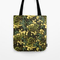 military Tote Bags featuring Military pattern. by Julia Badeeva