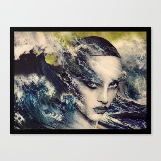 THE STORY OF A LACING WAVE Canvas Print