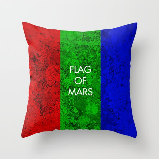 THE FLAG OF MARS Throw Pillow
