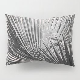 Palm leaves in pink Pillow Sham