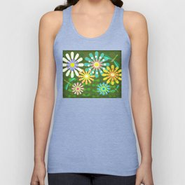 In The Garden Among The Flowers Unisex Tank Top