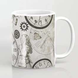 Wonderland Time - Vintage Black & White Coffee Mug