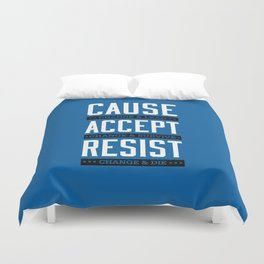 Lab No. 4 Cause Change And Lead Ray Noorda Inspirational Duvet Cover
