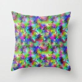 Electric Rainbow Shocker Throw Pillow