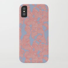 Trailing Curls // Pink & Blue Pastels iPhone X Slim Case