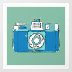 Holga Camera in Blue Art Print