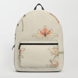 Julie de Graag - Study sheet with gladiolus and apple blossom Backpack