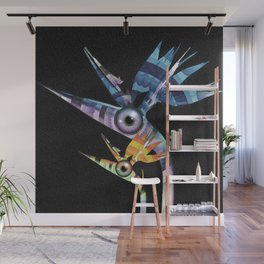 Trippin' Flippin' Birds of Paradise Floral Surrealism Wall Mural