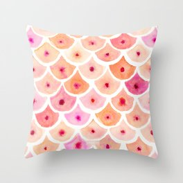BEWBS Boobs Watercolor Scallop Throw Pillow