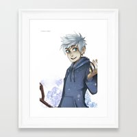 jack frost Framed Art Prints featuring Jack Frost by Sunny
