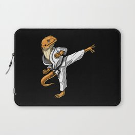 Bearded Dragon Karate Laptop Sleeve