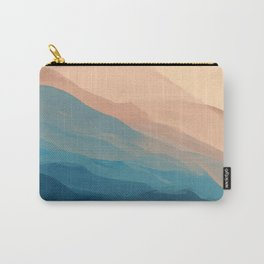 Blue Waves In Desert Peaks Carry-All Pouch