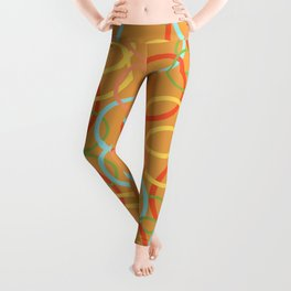 Vintage circles of happiness Leggings