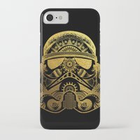 gold foil iPhone & iPod Cases featuring Mandala StormTrooper - Gold Foil by Spectronium - Art by Pat McWain