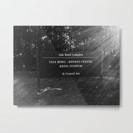 Yale Bowl Essentials Metal Print