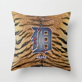 Built Detroit Tough  Throw Pillow