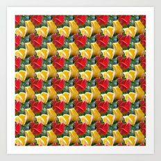 Tulips pattern Art Print