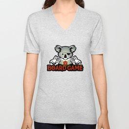 koala playing dice Unisex V-Neck