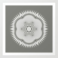 flower of life, alien crop formation, sacred geometry Art Print