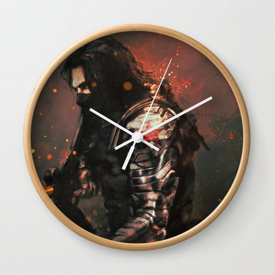 Blood in the Breeze Wall Clock