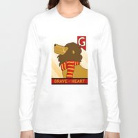 gryffindor Long Sleeve T-shirts featuring Gryffindor Lion by makoshark