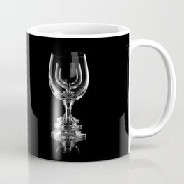 Three empty wine glasses on black Coffee Mug