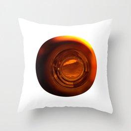 bottle light Throw Pillow