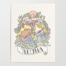 Rodent Mermaid Duo Poster