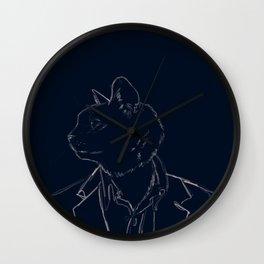 Dapper Cat Wall Clock