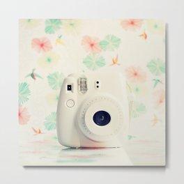 Film Instax Camera Metal Print