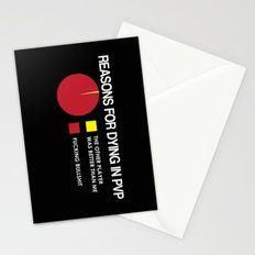 Reasons for Dying in PVP Stationery Cards