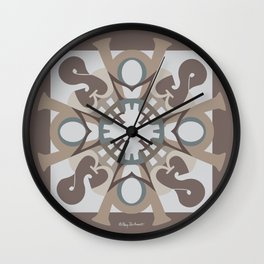 Home Sweet Home Mandala - Brown Tan Wall Clock