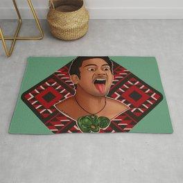 New Zealand Maori Haka Dancer Rug
