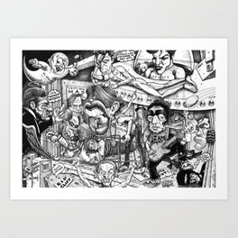 Battle Of The Bands Art Print
