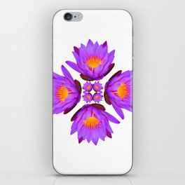Purple Lily Flower - On White iPhone Skin