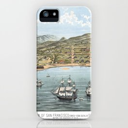 SAN FRANCISCO CALIFORNIA city old map Father Day art print poster iPhone Case
