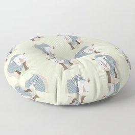 Whimsical Rhinoceros Floor Pillow