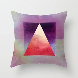 Triangle Composition XI Throw Pillow
