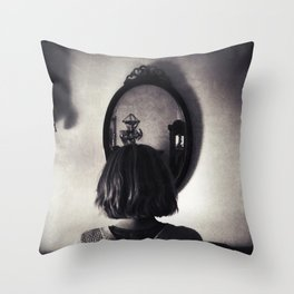 Face to Place Throw Pillow