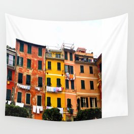 Cinque Terre - Colorful Buildings in Monterosso Wall Tapestry