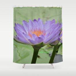 Blue Water Lilies in Hangzhou Shower Curtain