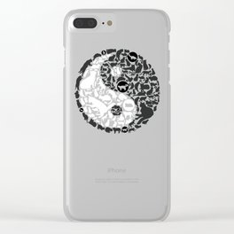 Yin-Yang Cats - Gold Clear iPhone Case
