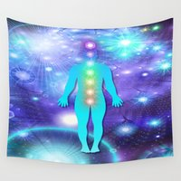 chakra Wall Tapestries featuring Chakra Universe by NatalieCatLee