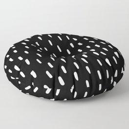 Raindrops at night Floor Pillow