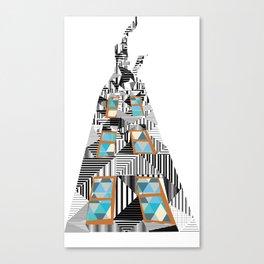 geometric building Canvas Print