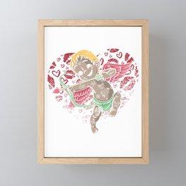 Tattoo Artist Tattoo Lover Valentines Day Tattooed Cupid Framed Mini Art Print