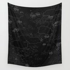 land of 15 towns and a cemetary · negative ⎌ Wall Tapestry