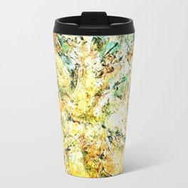 Acrylic textured painting by Annette Travel Mug