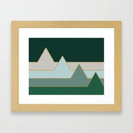 Green Mountains #society6 #decor #buyart Framed Art Print