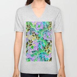 Floral Abstract Artwork G127 Unisex V-Neck